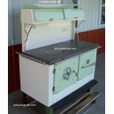 Kitchen Queen Wood Cook  Stove 480 Green and Cream
